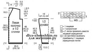 Кардиган спицами схема и описание