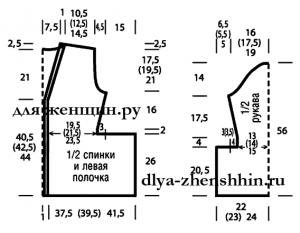 Описание вязания кардигана спицами