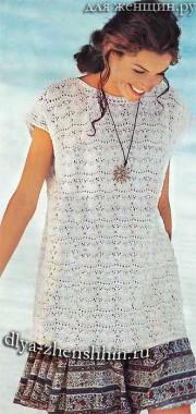 Вязание спицами летнего пуловера для женщин
