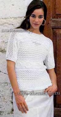 Летний пуловер для женщин
