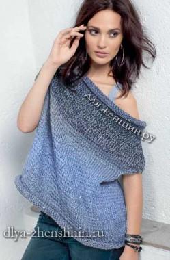 модная модель пуловера спицами