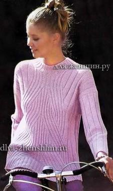 свитер для женщин связанный на спицах