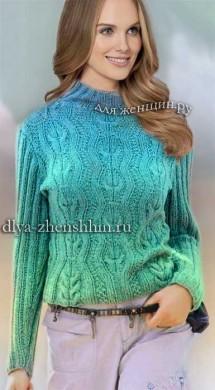 Вязание спицами пуловера для женщин