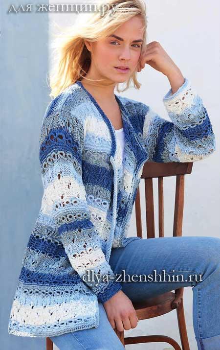 Модная модель вязаного кардигана для женщин